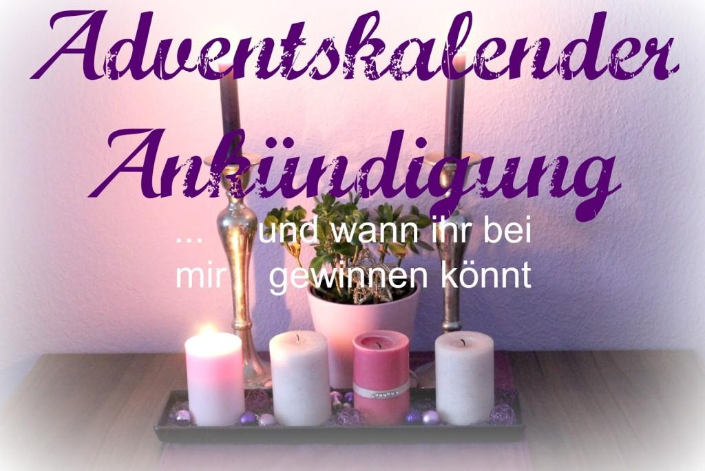 {Ankündigung} Adventskalender – bei mir öffnen sich 4 Türchen :)