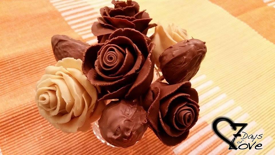 {DIY} Erdbeer Schokoladen Rosen Zum Valentinstag