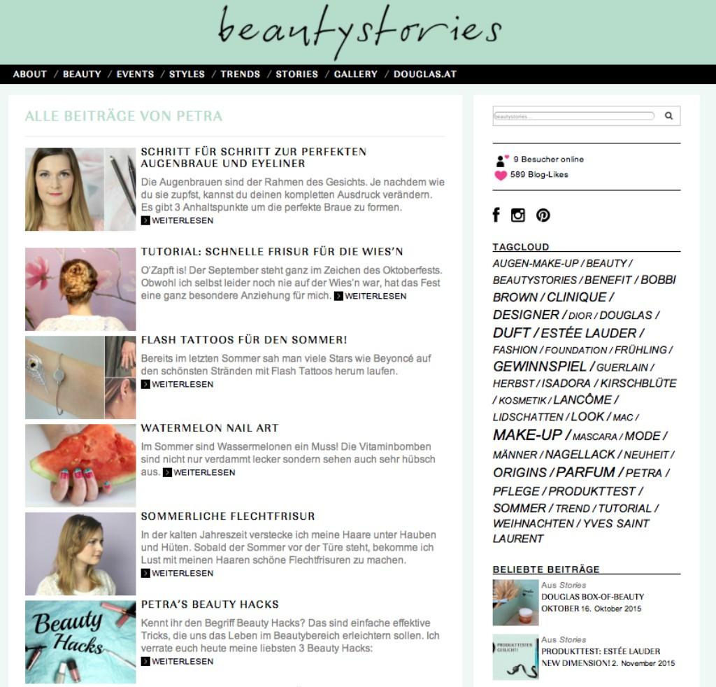 Douglas Blog beautystories Gastblogger Petra Kirschblute kirschbluetenblog
