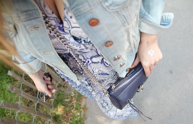 {9 shades of style} Outfit mit der Mini MAC und Jeansjacke