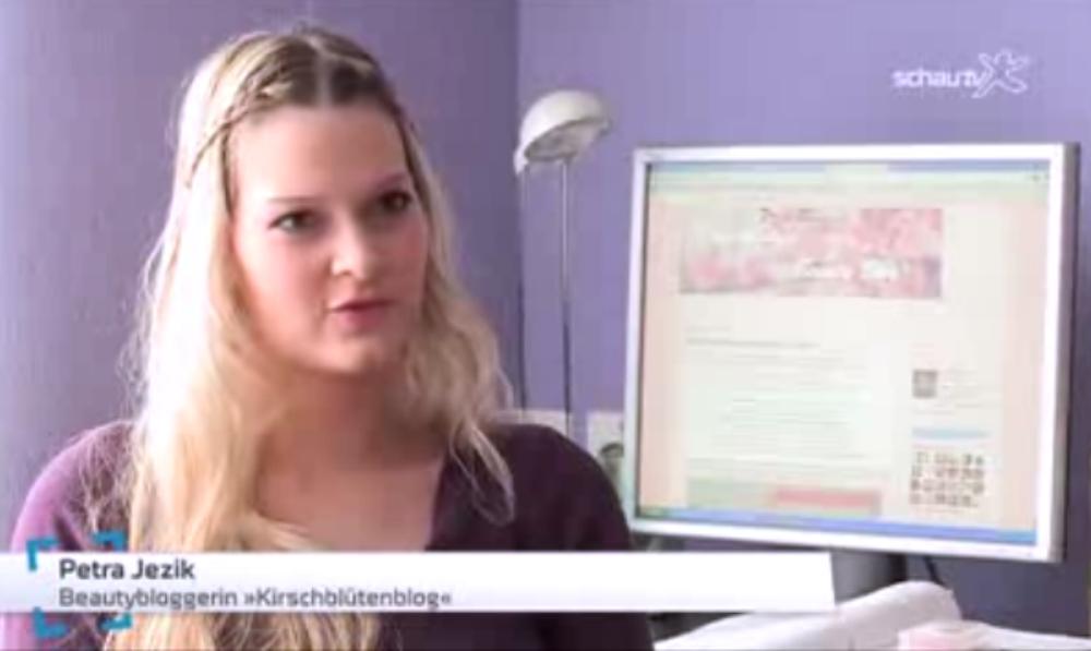 Screenshot Schau TV Beautybloggerin Petra Kirschblute kirschlbuetenblog