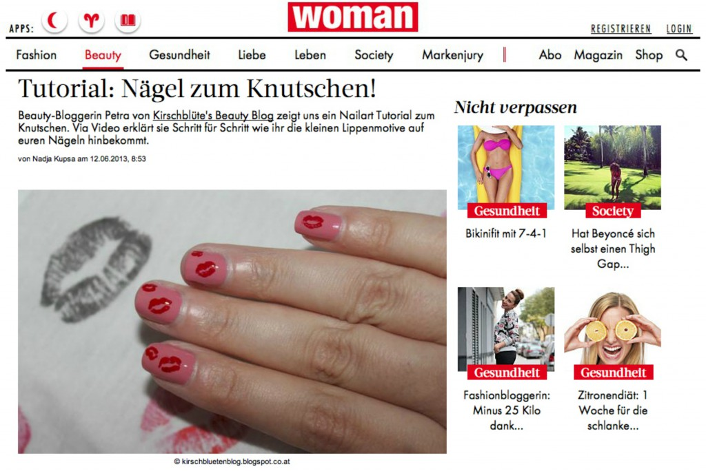 woman.at Tutorial Nagel Nailart kussmund Lippen von Kirschbluetenblog