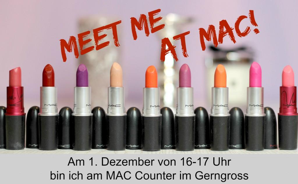 Meet me MAC Welt Aids Tag Gerngross