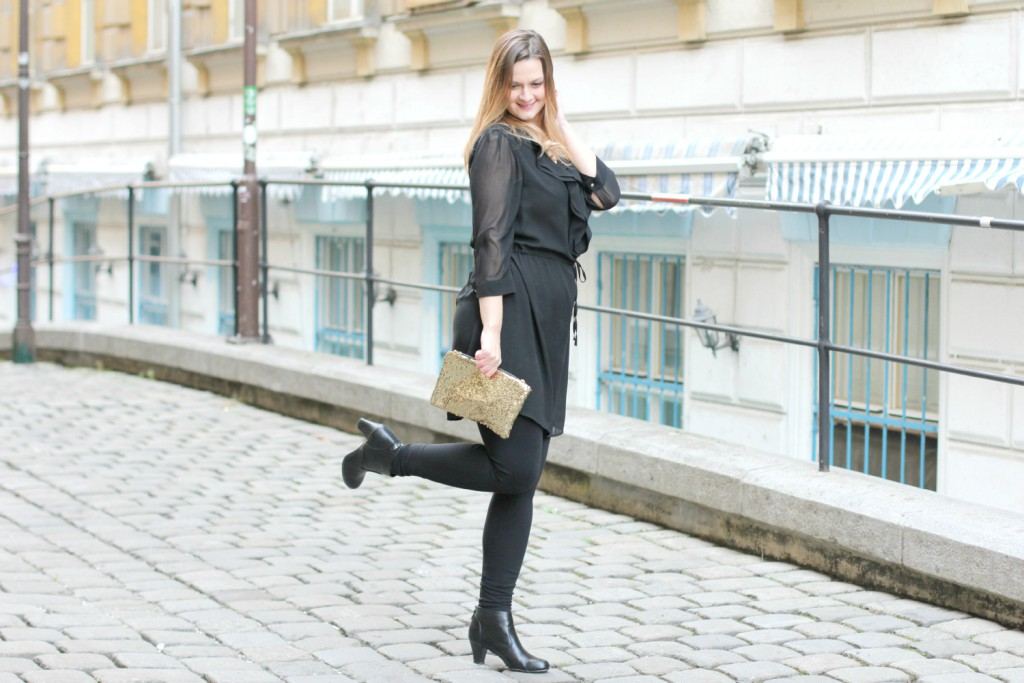 Blogger Outfit Black Glam