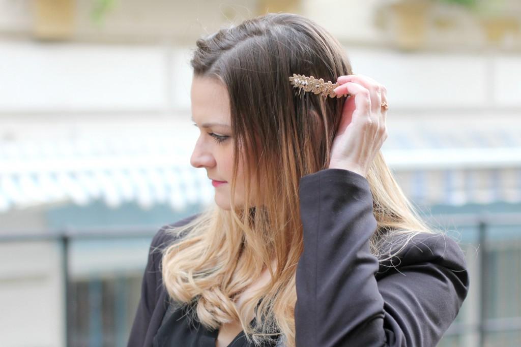 Blogger Outfit Zara gold Haarreifen