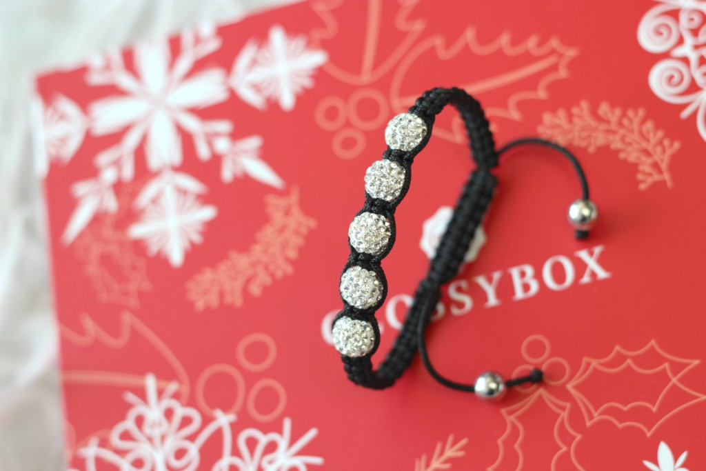 Glossybox Dezember 2015 Winter Wonders Armband Glitzer