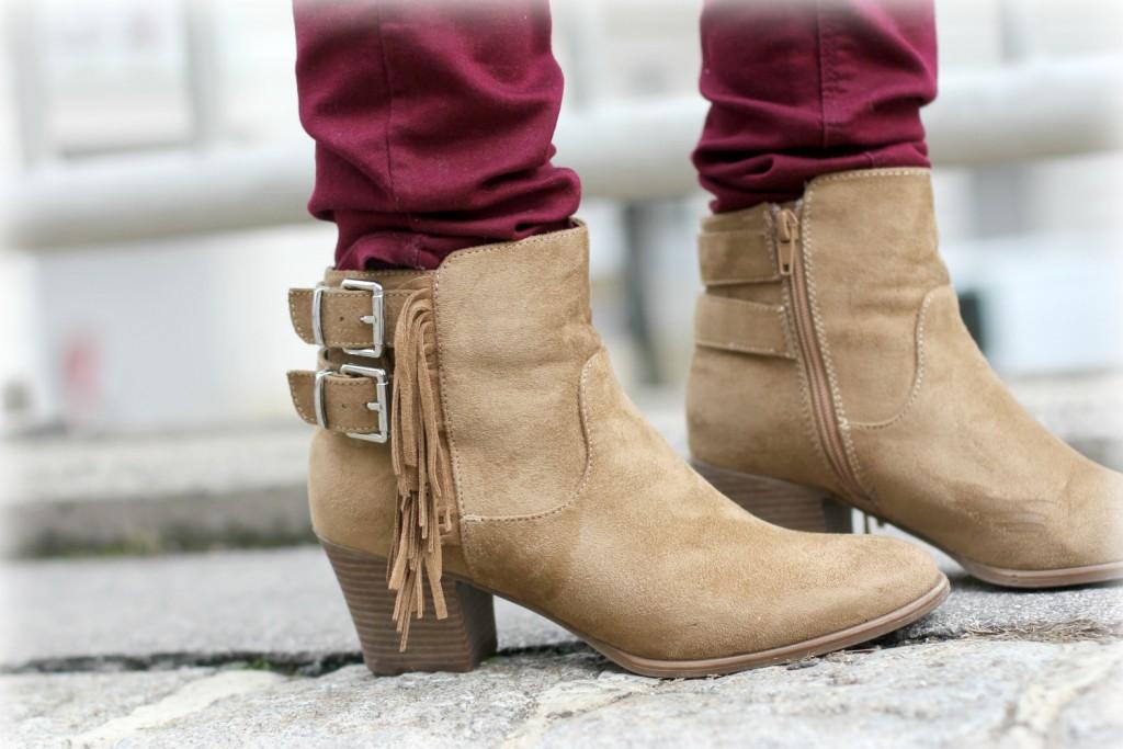 Blogger Outfit Deichmann Fransen Boots