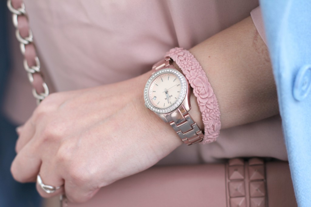 Pastell Blogger Outfit Rose Quartz Serenity Fossil Uhr rosegold Fashionblogger Osterreich