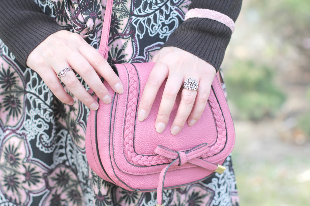 Blogger Outfit Chloe Lookalike Dorotha Perkins Pandora Ringe Kirschbluten