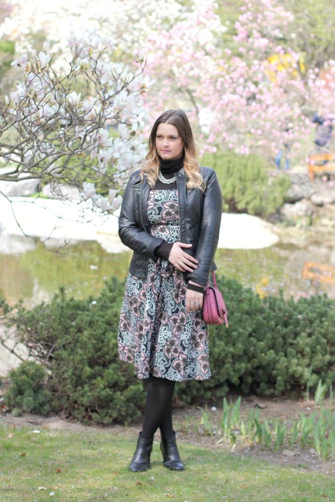 Blogger Outfit Lederjacke 90er Look