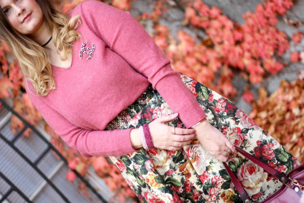 blogger-outfit-midirock-chanel-herbst-outfit