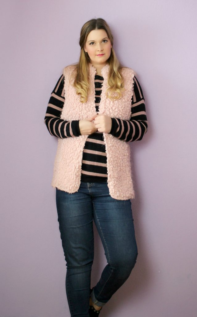 tkmaxx outfit 4 new in haul pink vest stripes