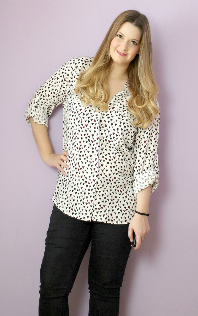 tkmaxx outfit new in haul allover heart print blouse
