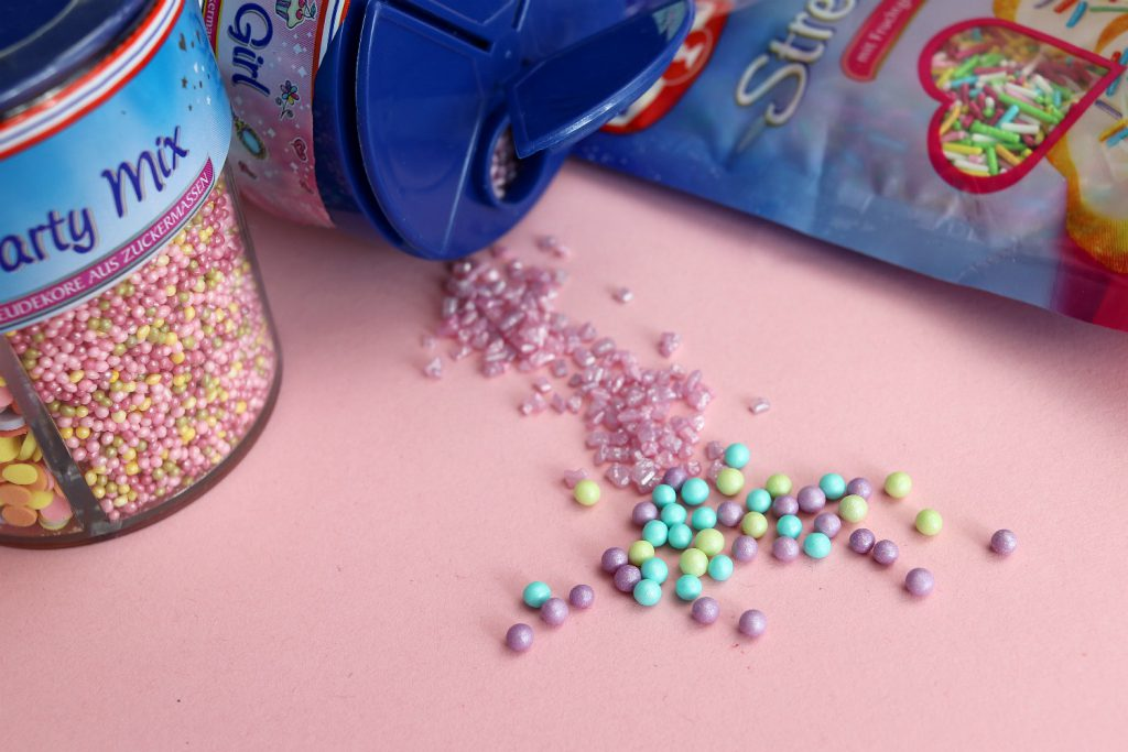 unicorn cupcakes diy sprinkles
