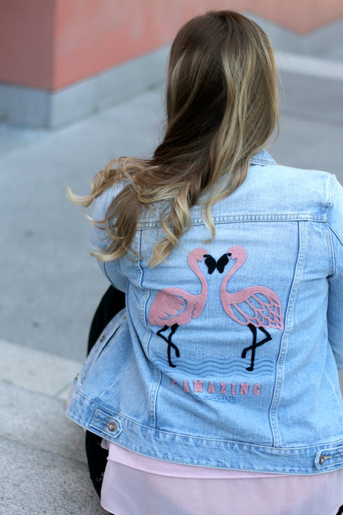 Modeblog Osterreich Fashionblog Flamingo Jeansjacke Blogger Outfit