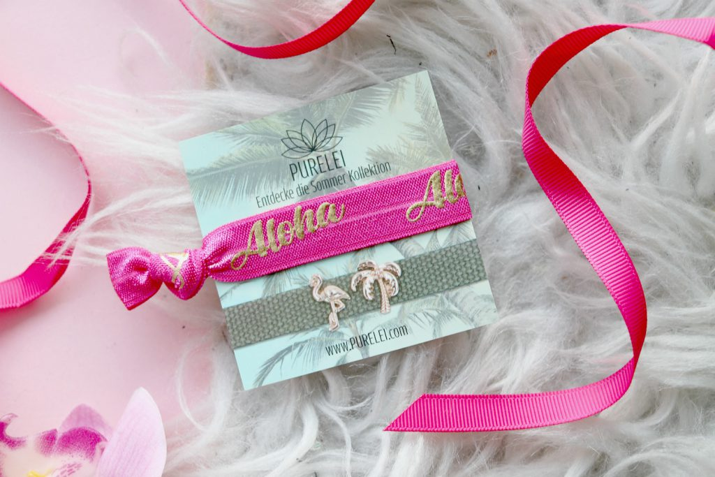 Glossybox Juli 2017 Purelei Aloha pink Armband Haarband