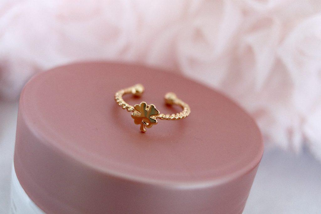 Ring gold Glucksklee Kleeblatt