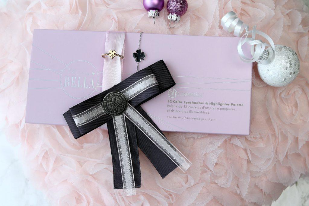 Schleifenbrosche Mrs Bella Palette BH cosmetics Glucksklee Kleeblatt Armband Ring Fashion