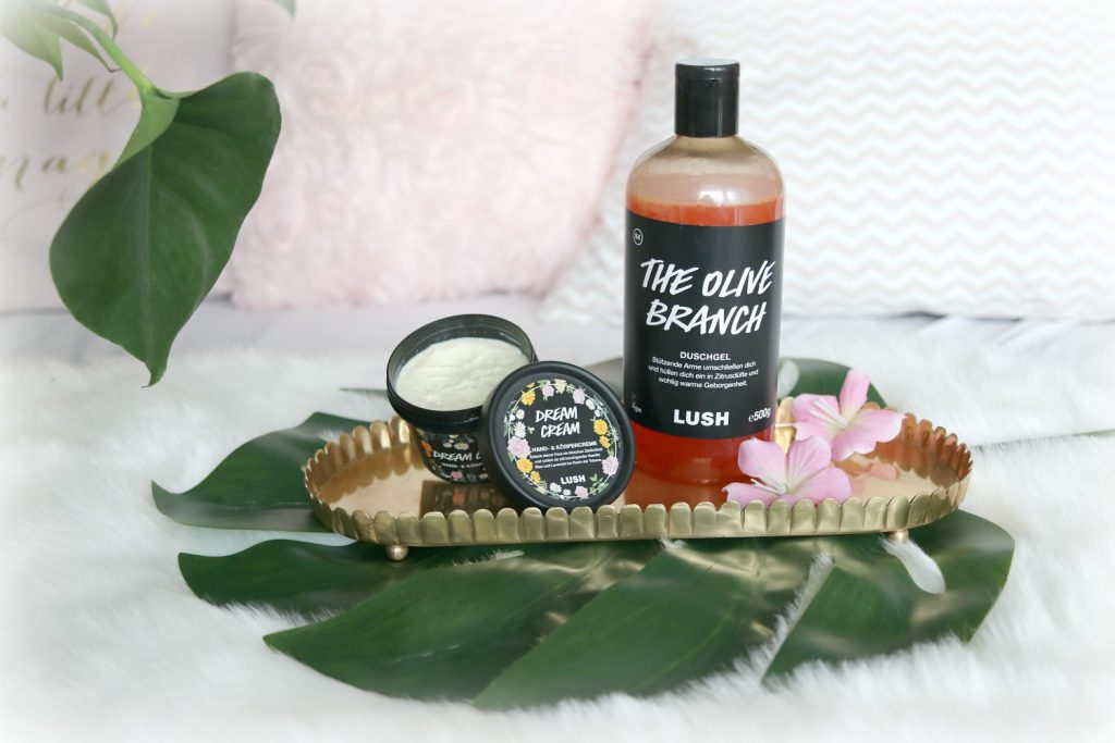 Lush favoriten duschgel the olive branch bodylotion dream cream