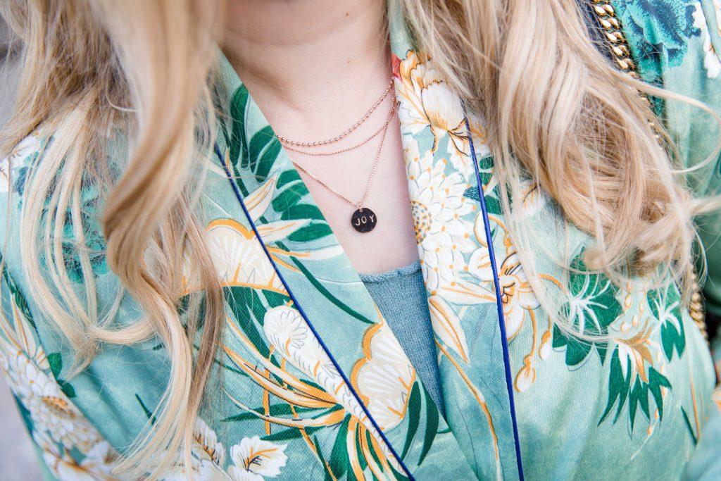 Outfit – the green Zara Kimono
