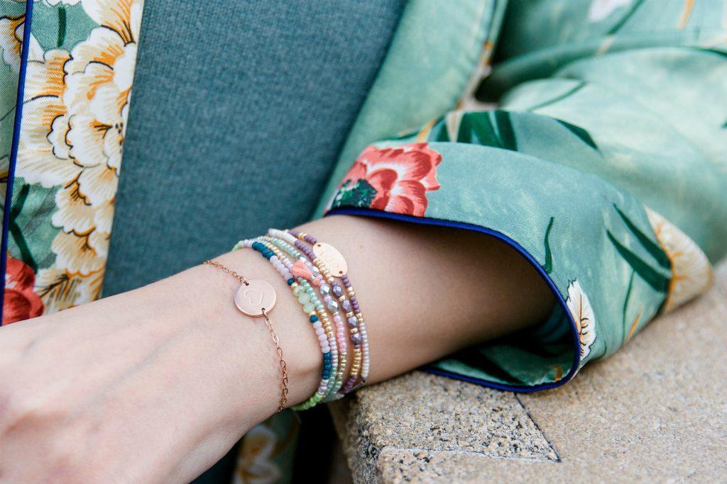 Perlen Armbandchen zarte rosegold Armband Herz