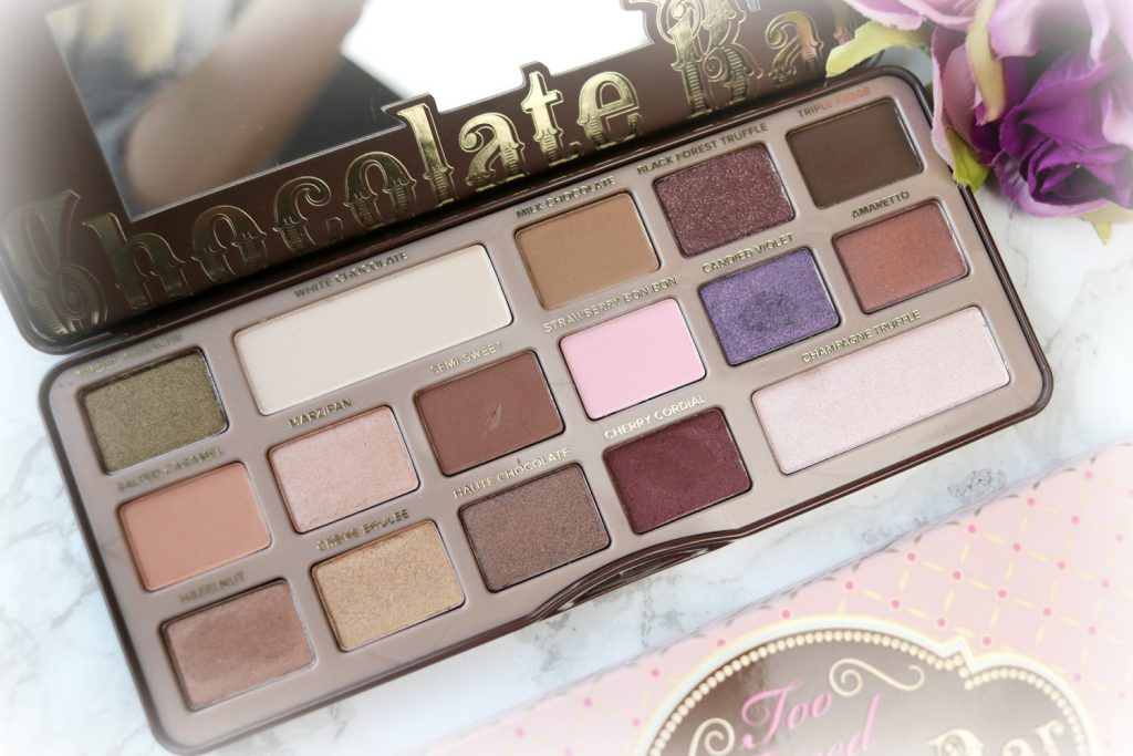 too faced chocolate bar lidschatten palette