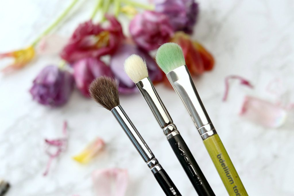 Pinsel Favoriten Augen Make up Zoeva 228 Crease Brush MAC 217 Blender brush bdellium tools