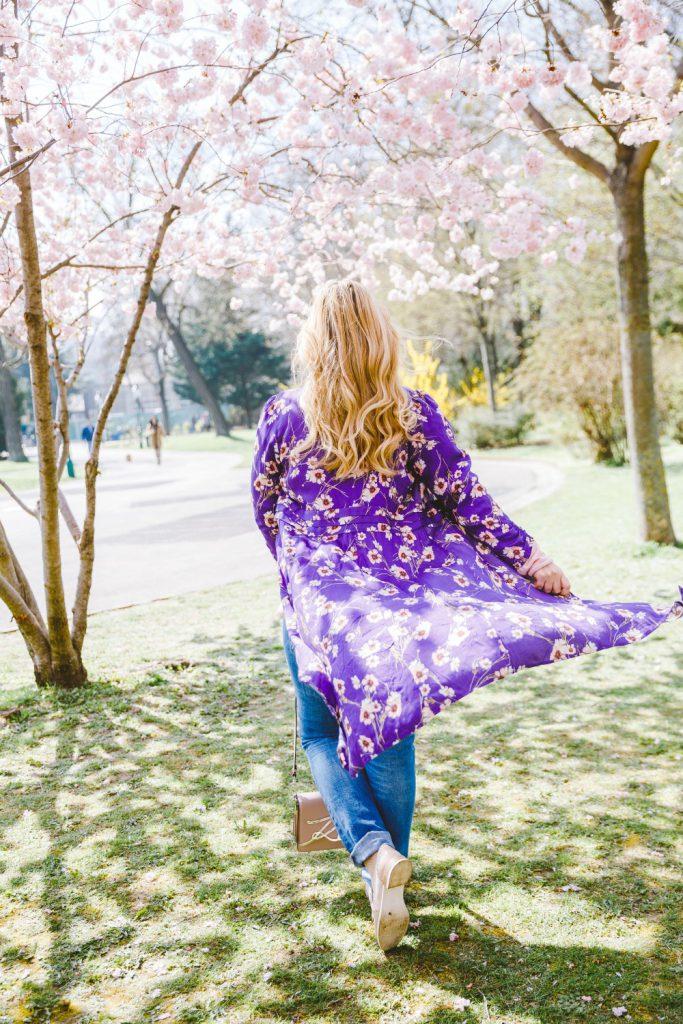 Mangokleid ultraviolet Outfit