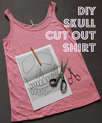 DIY: Skull Cut out Shirt