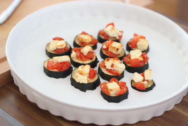 {Rezept} Zucchini-Tomaten-Feta-Pizza
