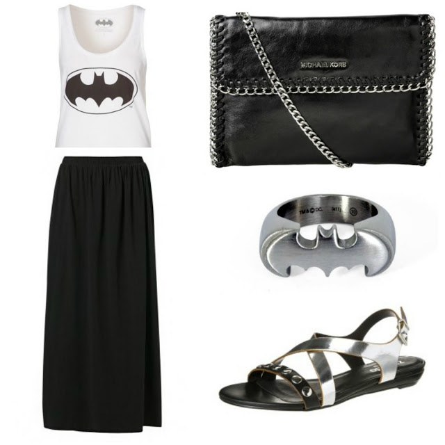 {Inspiration} Outfits mit schwarzem Maxirock