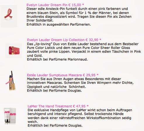 {Pink Ribbon 2013} Mein Zeichen + die Produkte von Estee Lauder und Hallhuber