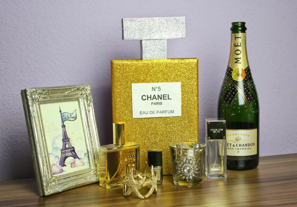 {DIY} Chanel Parfum Home Deko /Glossybox Recycling