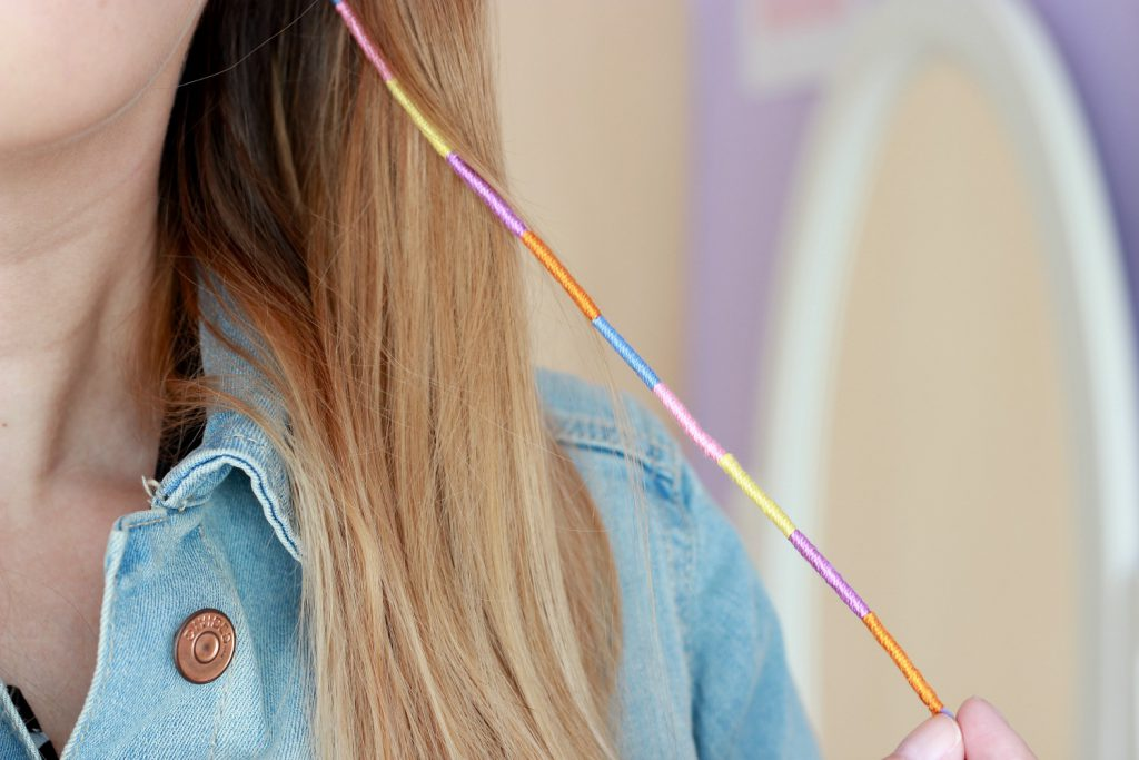 DIY Hair Wraps 90ties Festival Boho Hair Coachella