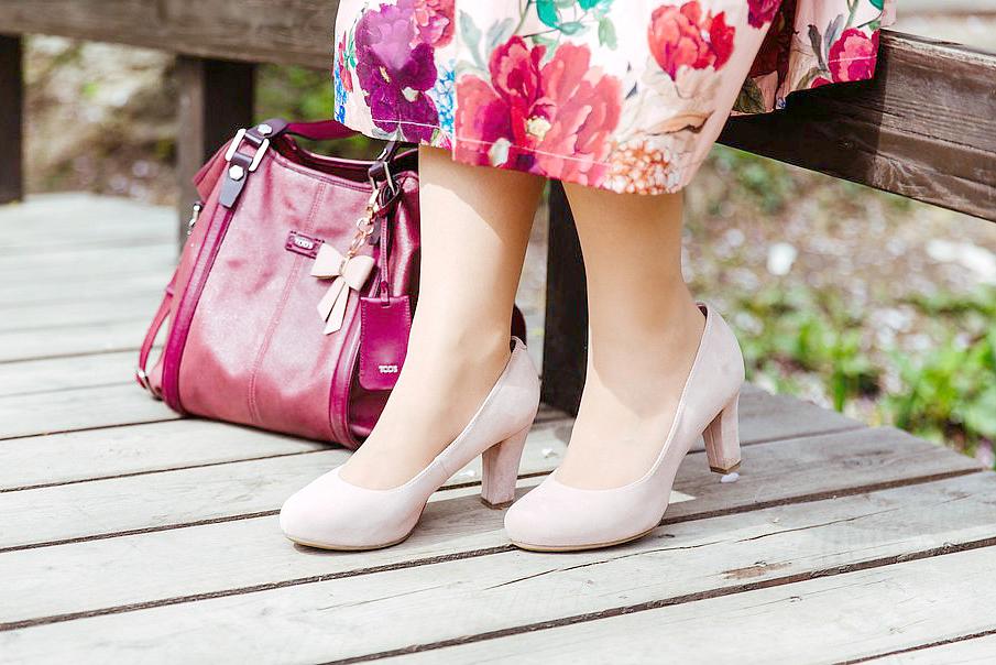 Blogger Outfit Deichmann Pumps rosa nude Hochzeitsgast Pastell Modeblog Wien Osterreich