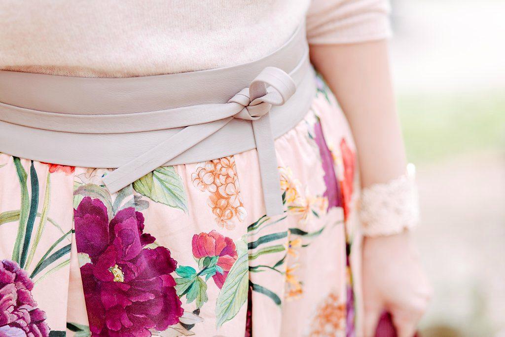 Blogger Outfit Zalando Bindegurtel Taillengurtel Hochzeitsgast Pastell Modeblog Wien