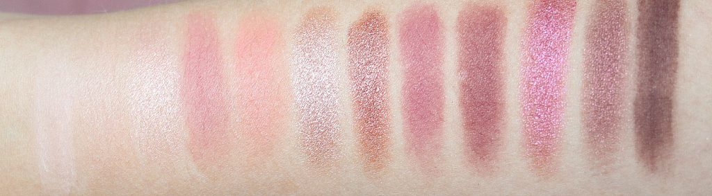 Urban Decay Cherry Palette Swatches