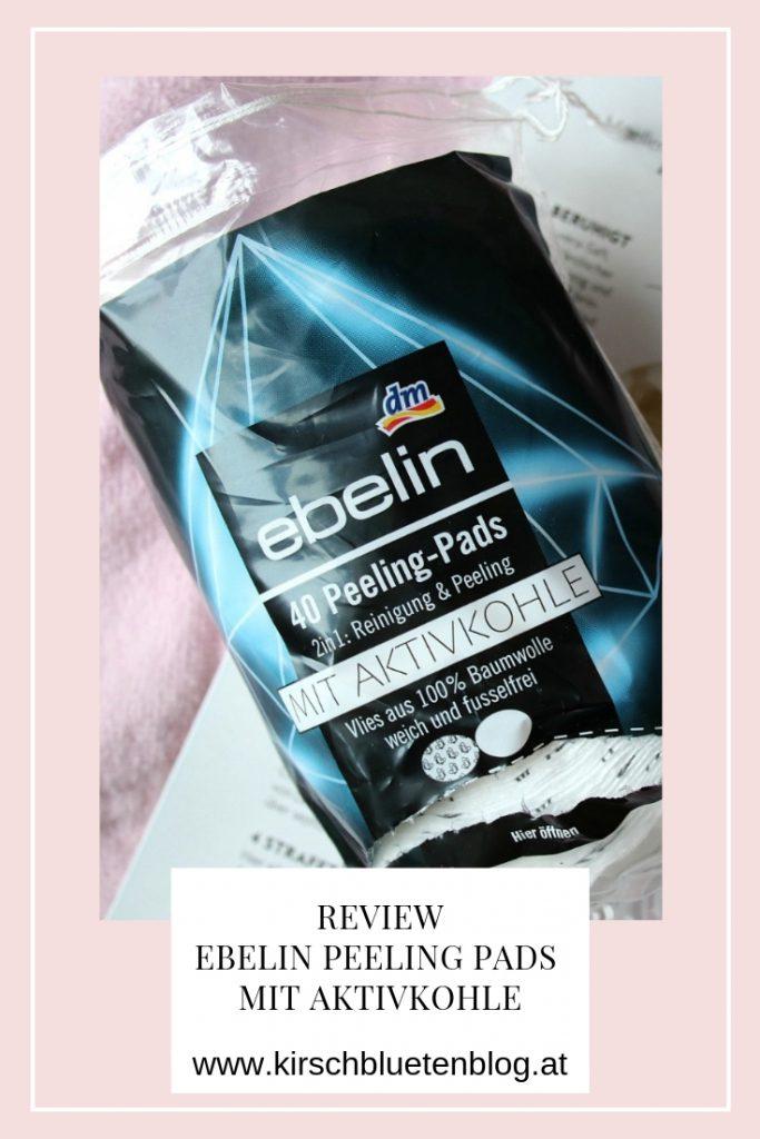 Ebelin Peeling Pads mit Aktivkohle Testbericht Review