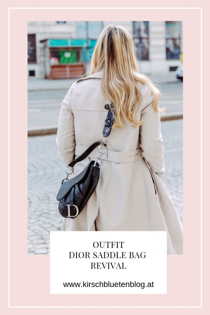 Outfit Dior Saddle Bag Revival Trenchcoat Fashionblog Wien