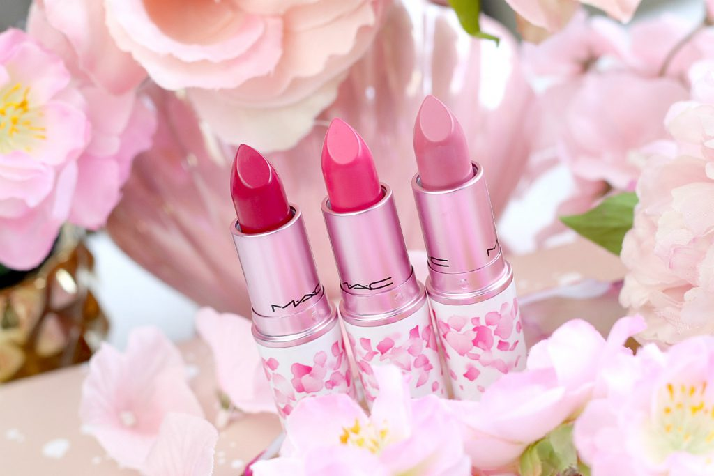MAc Boom Boom Blomm LE Swatches Lipstick Wagasa Twirl Tsk Tsk Framboise Moi Swatches