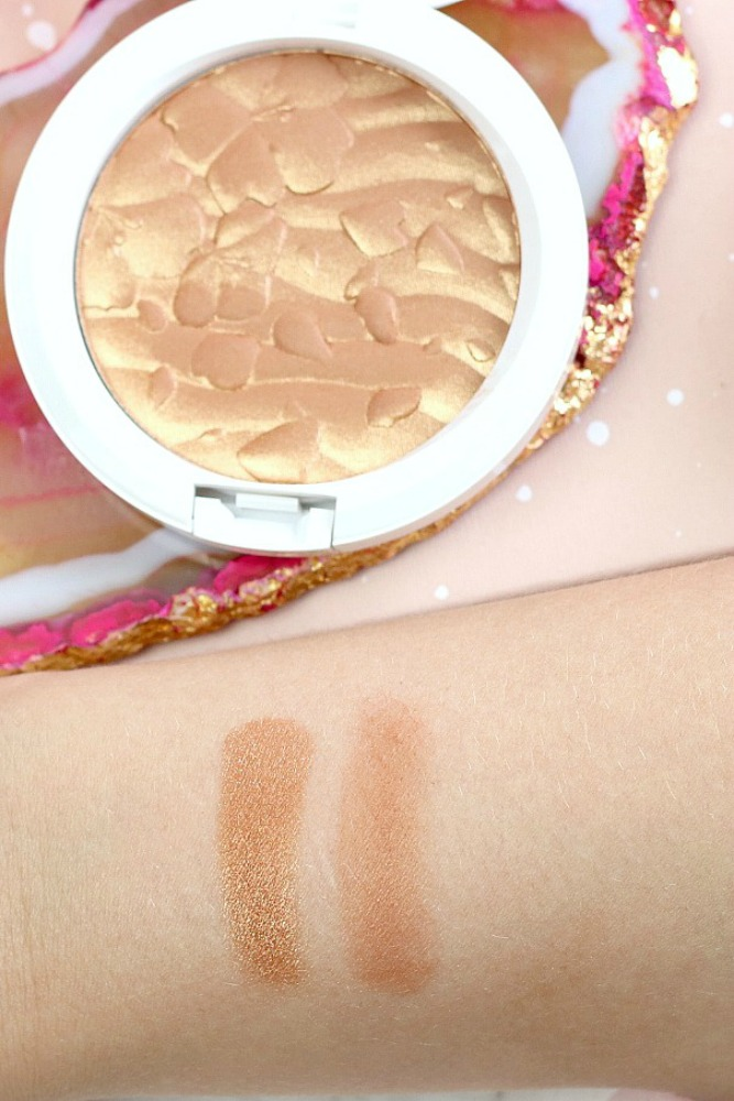 MAC Boom Boom Blomm LE Swatches Spring Bling Bronzer Overspray