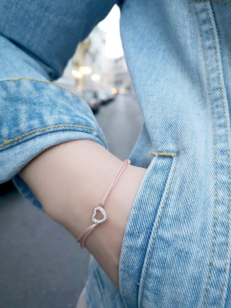 Thomas Sabo Geschenk Armband rosa Herz Anhanger Blogger Outfit Kirschblueten Fashionblog Osterreich Wien